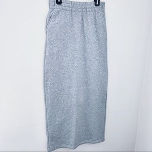 Sweater material long skirt
